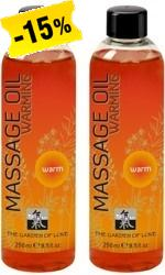 Shiatsu Massage Oil Warming, 250 ml